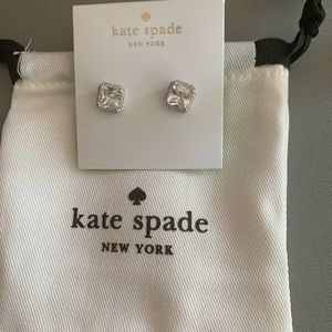 NEW KATE SPADE SAVE THE DATE PRINCESS CUT STUDS